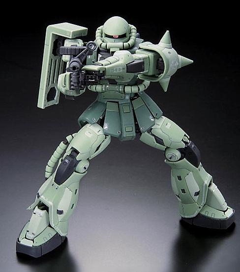 Gundam Mad :: Gundam Models :: 1/144 Real Grade MS-06F Zaku II