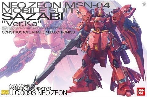 1/100 MG MSN-04 Sazabi Ver .Ka (Premium Decal Ver.)