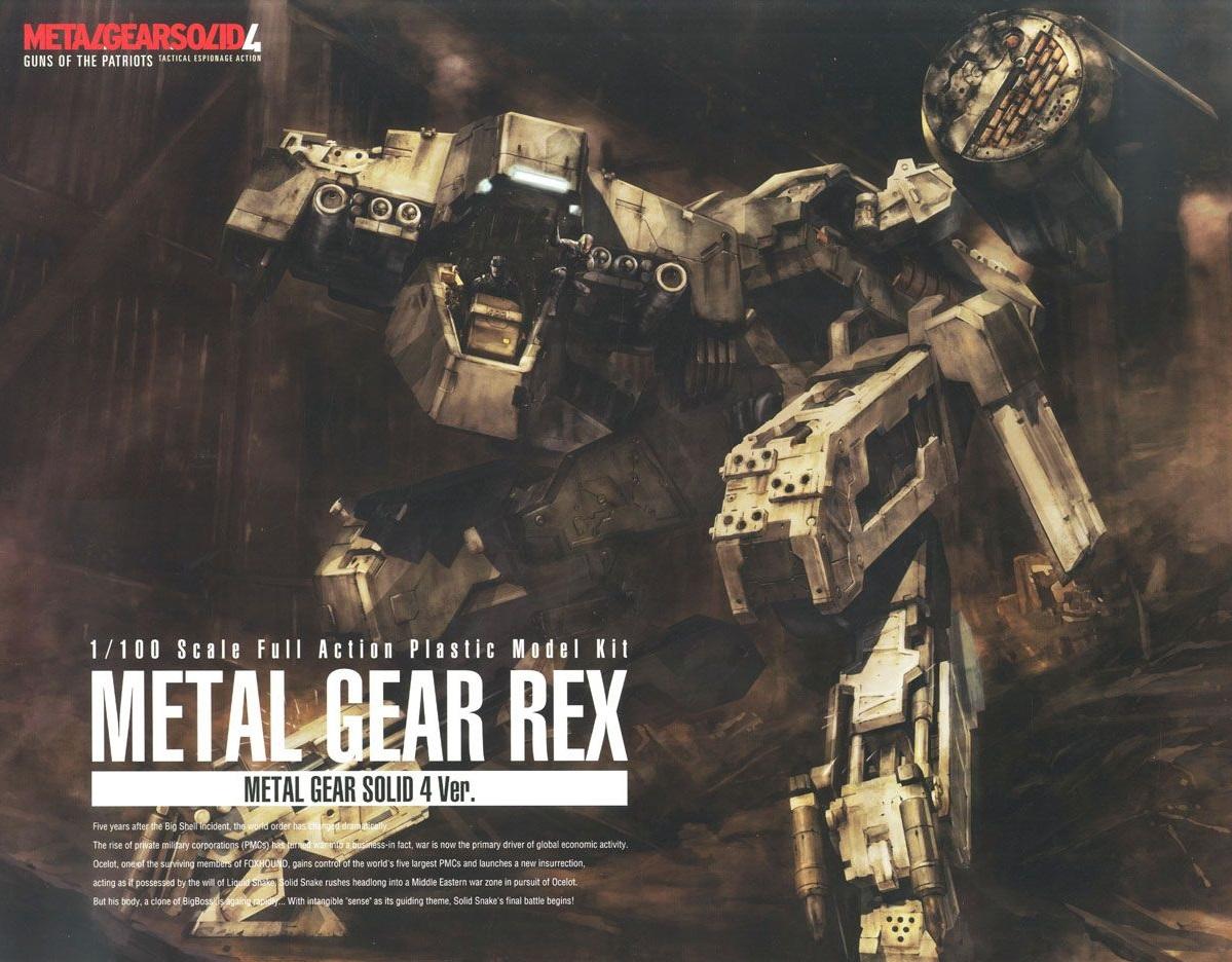 1/100 Metal Gear Rex Guns of the Patriots 4 Ver.