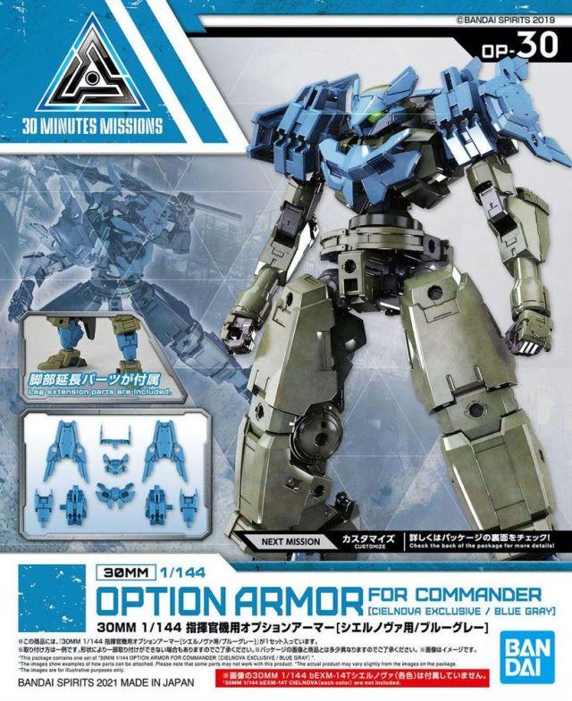 1/144 30MM Option Armour for Commander (Cielnova, Blue/Grey)