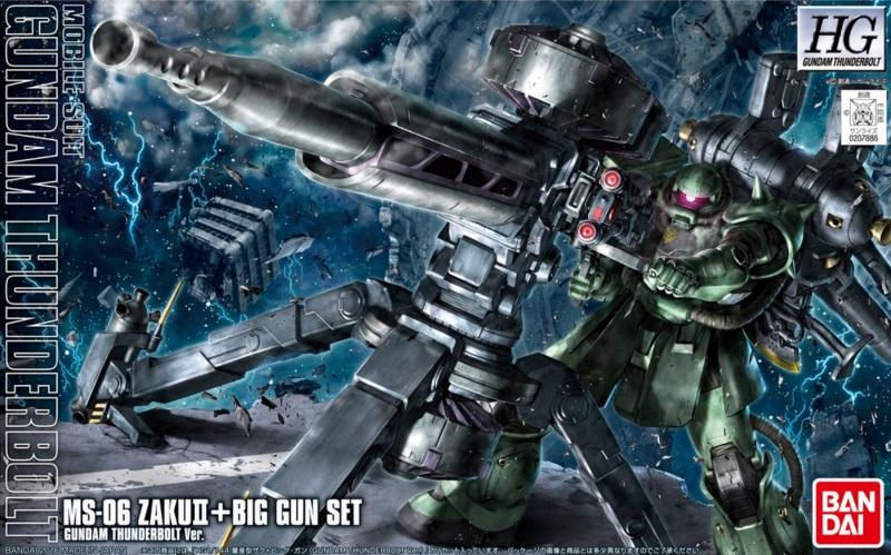 1/144 HG Zaku II & Big Gun (Thunderbolt Ver.) Anime Ver.