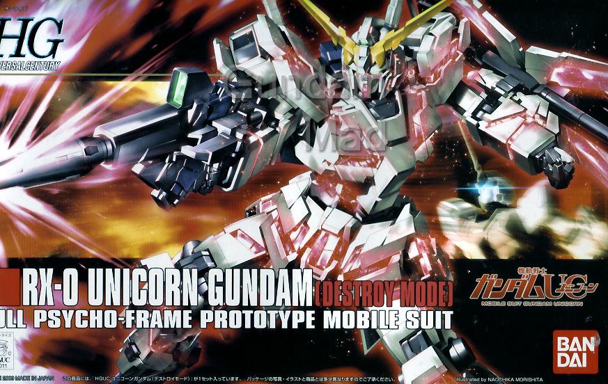 1/144 HGUC Unicorn Gundam Destroy Mode