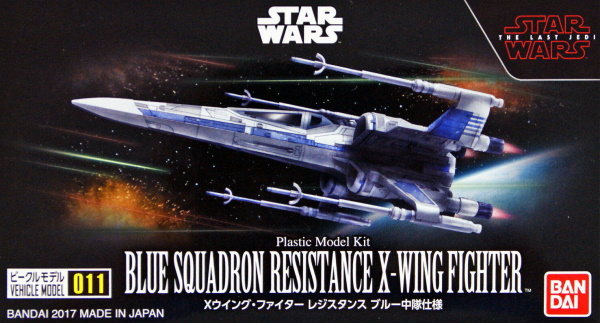 Star Wars Blue Squadron Resistance X-Wing Fighter Vehicle Model 011