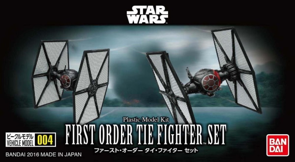 Star Wars First Order Tie Fighter Set Vehicle Model 004