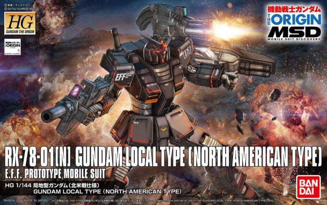 1/144 HG Gundam The Origin Local Type (North American Type)