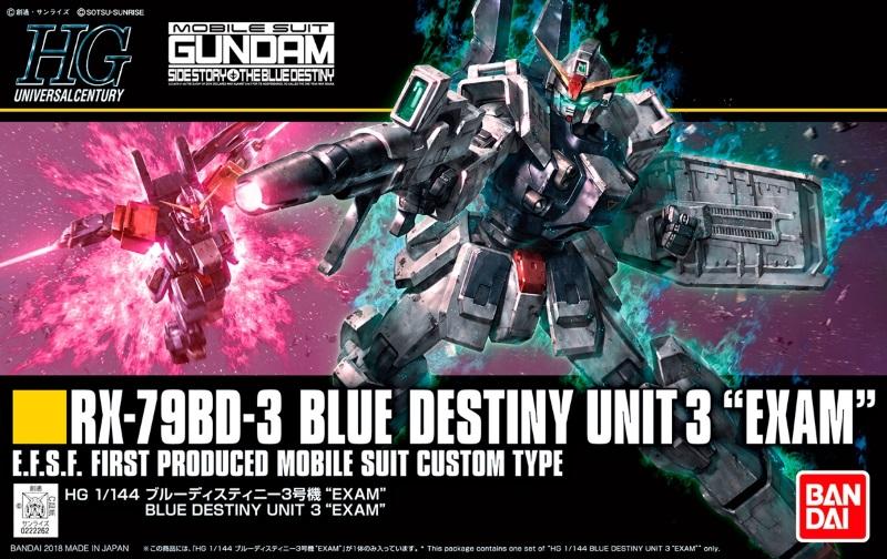 """1/144 HGUC Blue Destiny Unit 3 """"EXAM"""""""