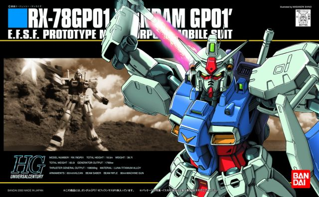 1/144 HGUC RX-78GP01 Gundam GP01 Zephyranthes