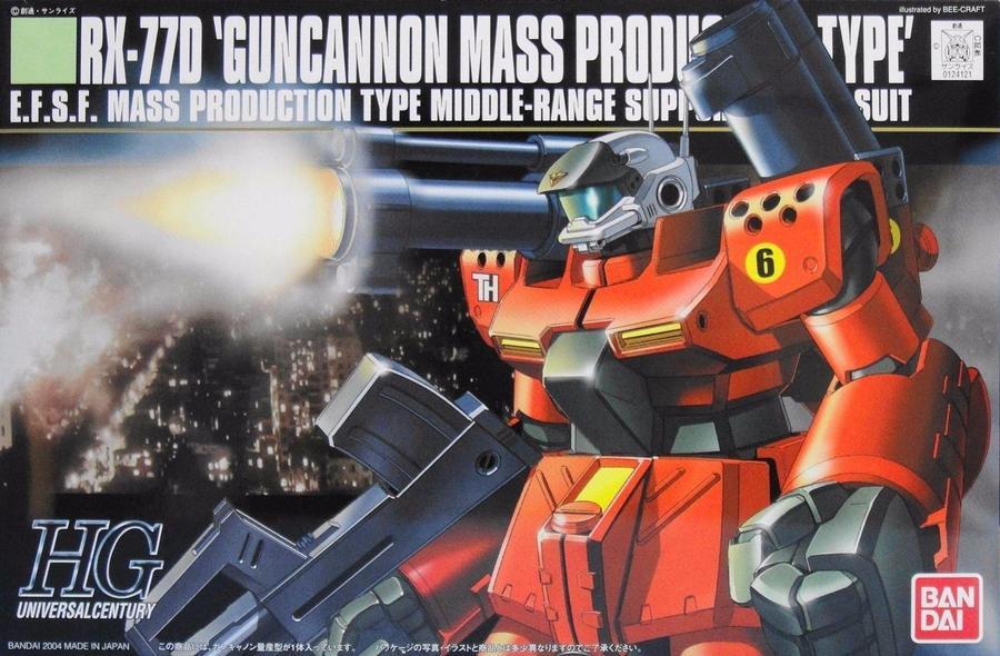 1/144 HGUC RX-77D Guncannon