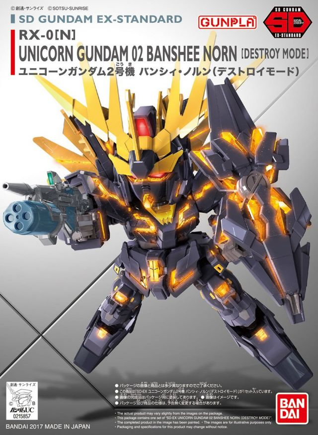 SD Gundam EX Standard Unicorn Gundam 2 Banshee Norn