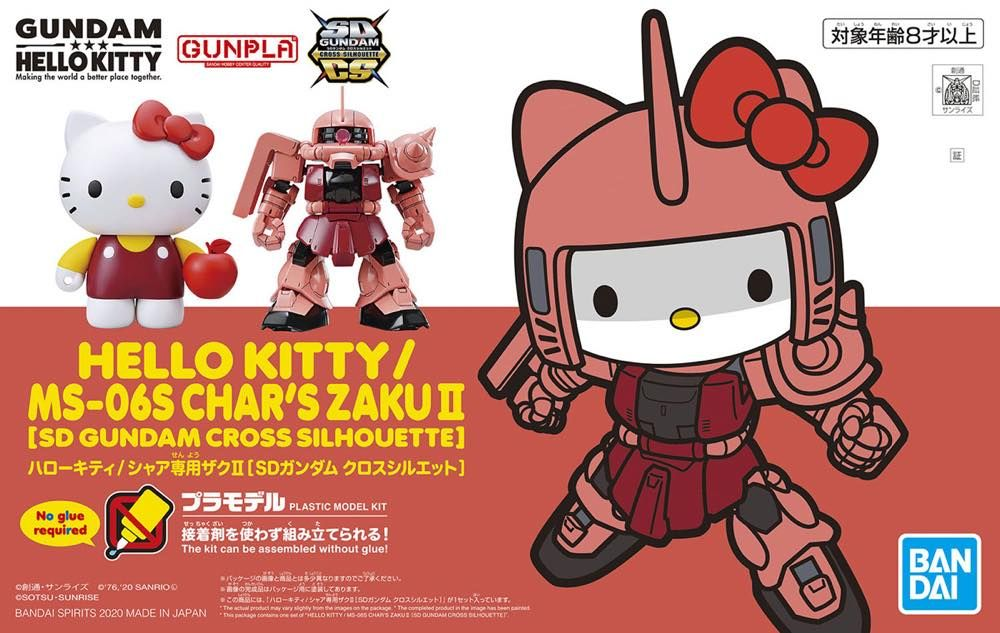 SD Gundam Cross Silhouette Char's Zaku II / Hello Kitty Set