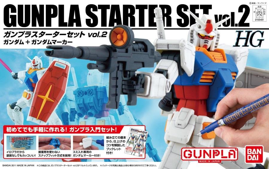 1/144 HGUC Gunpla Starter Set 2: Gundam Version G30th & Gundam Marker