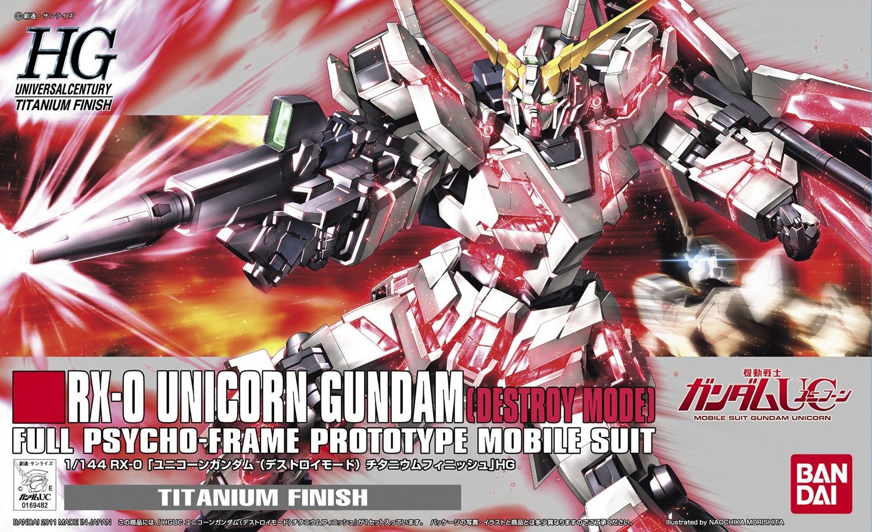 1/144 HGUC Unicorn Gundam Destroy Mode (Titanium Finish)