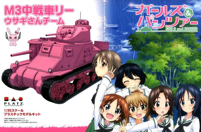 1/35 Girls und Panzer: M3 Medium Tank Lee (Usagi San Team)