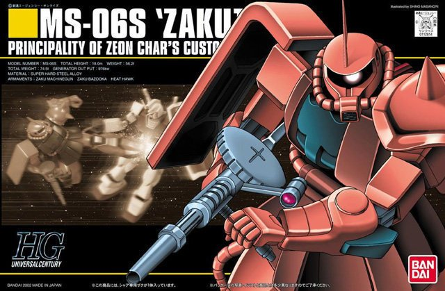 1/144 HGUC MS-06S Char's Zaku II