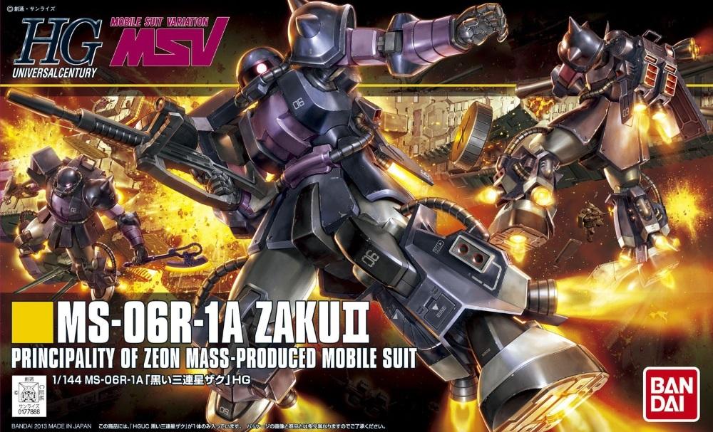 1/144 HGUC MS-06R Black Tri-Stars Zaku