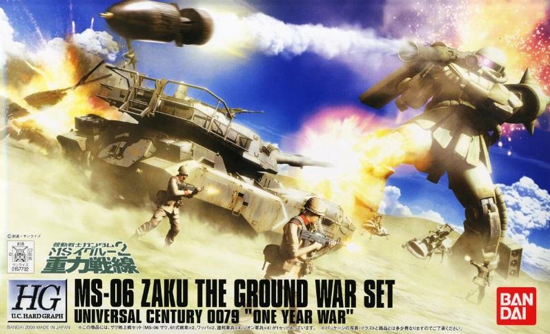 1/144 HGUC MS-06 Zaku The Ground War Set