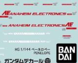 Gundam Decal 122 for HG Mobile Suit Gundam Hathaway's Flash 1